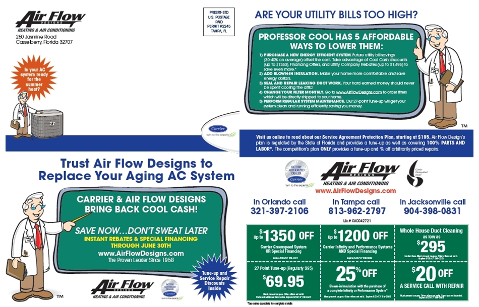 Air Flow Designs Direct Mail