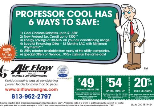 Air Flow Designs Newspaper Ad