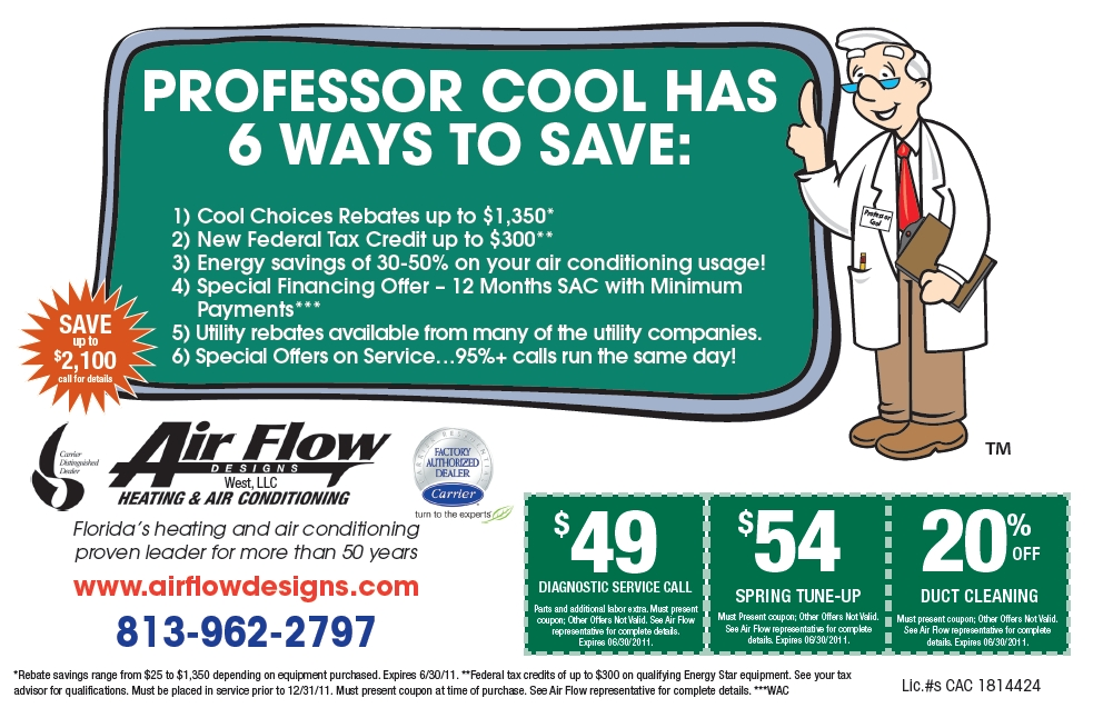 Air Flow Designs Newspaper Ad