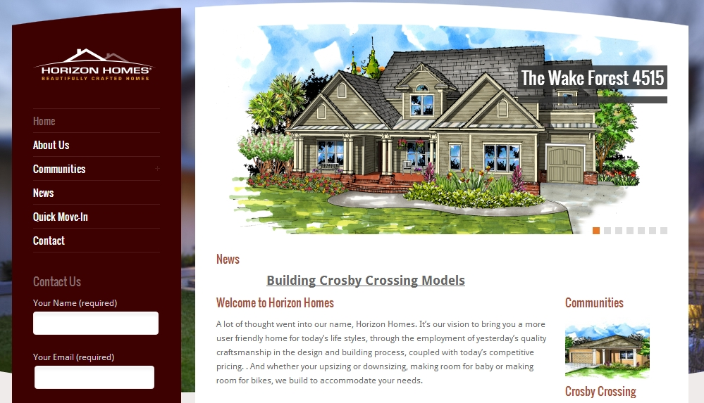 Horizon Homes Website