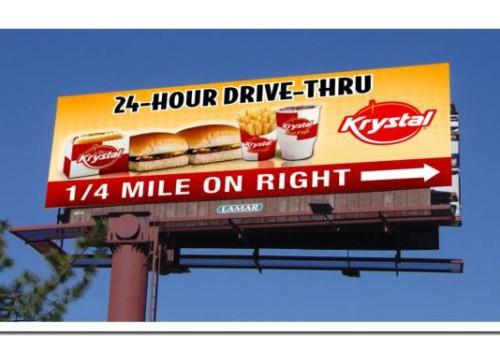 Krystal Hamburger Billboard