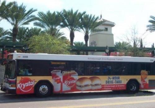Krystal Hamburger Bus Signage
