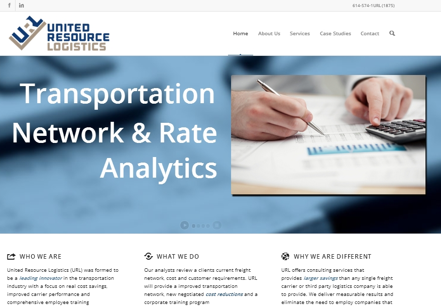 United Resources Logistics Website