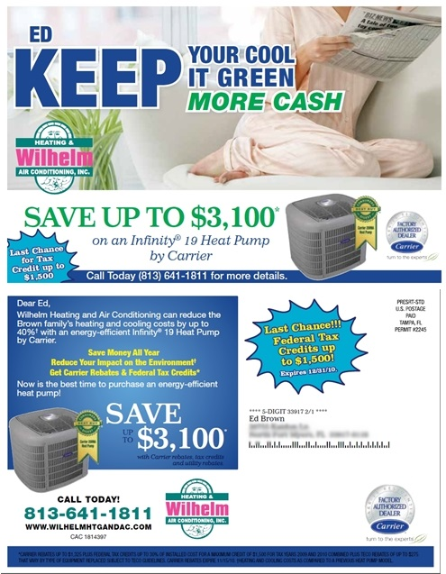 Wilhelm Air Conditioning Direct Mail