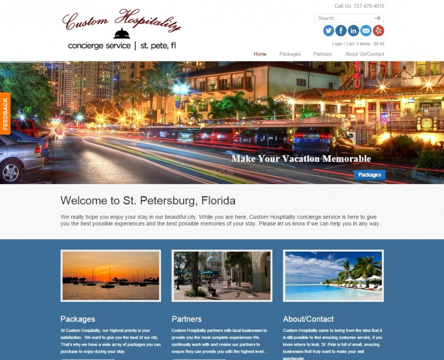 Custom Hospitality Website