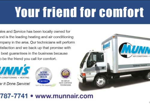 Munn's Air Conditioning Small Newspaper Ad